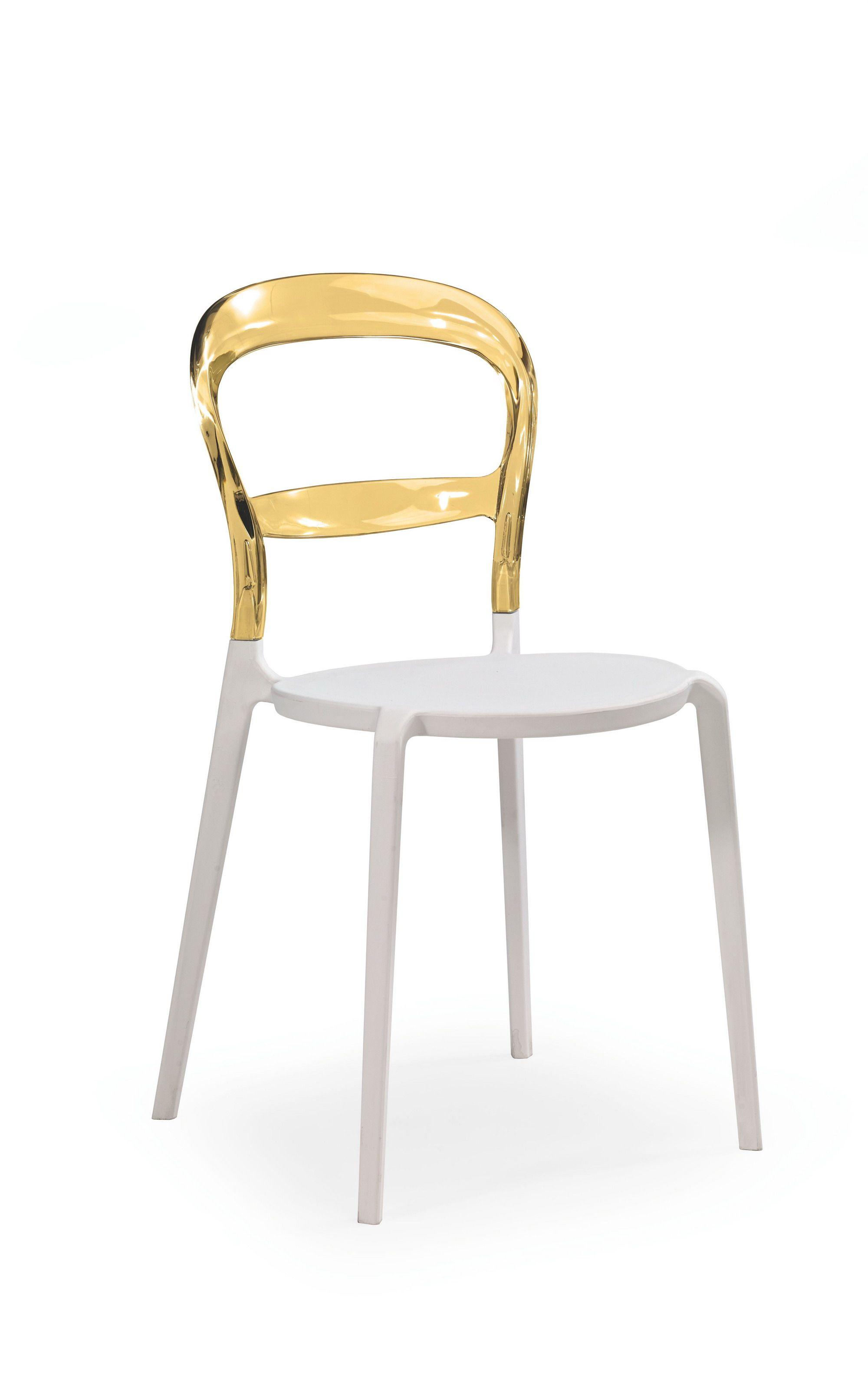 Plastikinė kėdė K100 geltona