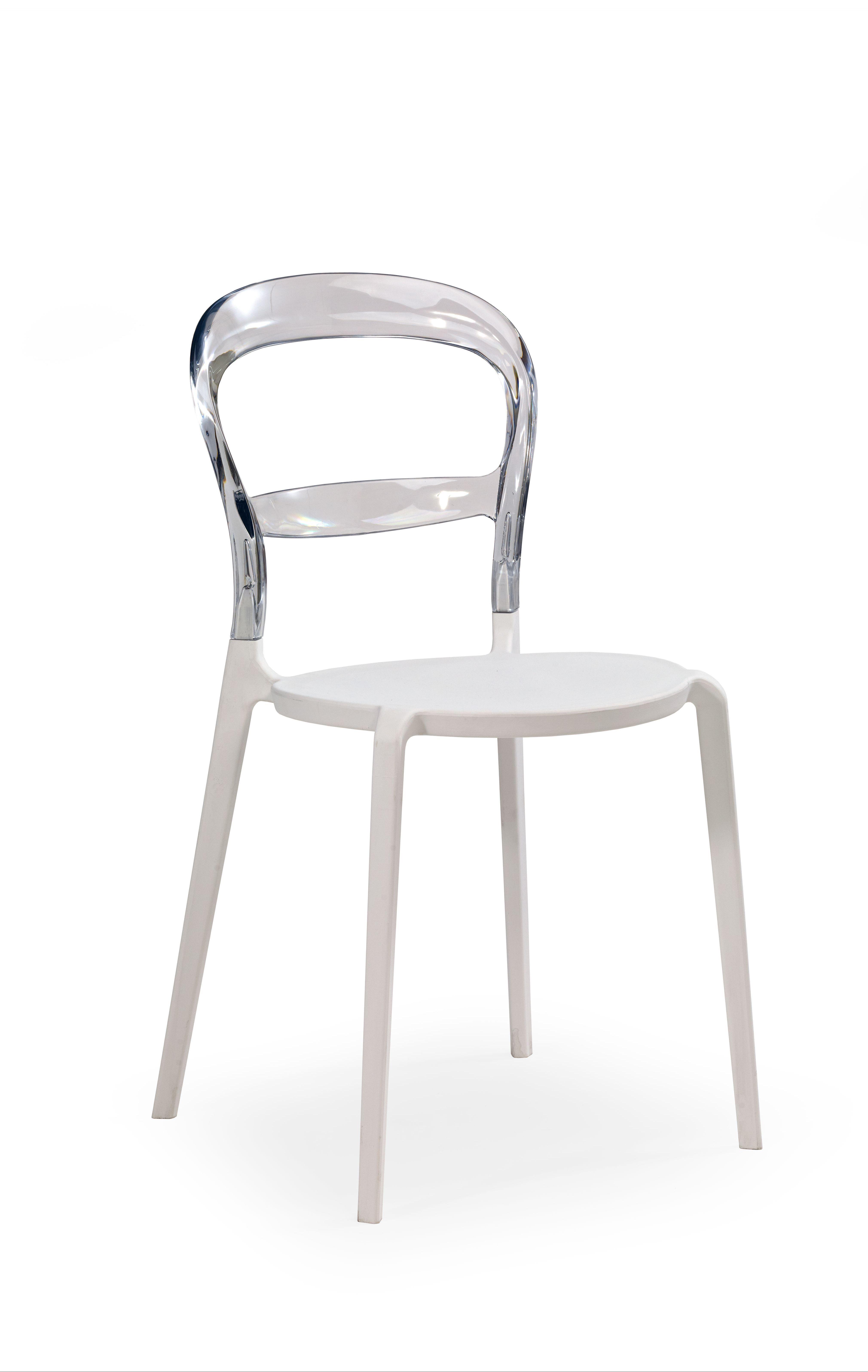 Plastikinė kėdė K100 glass