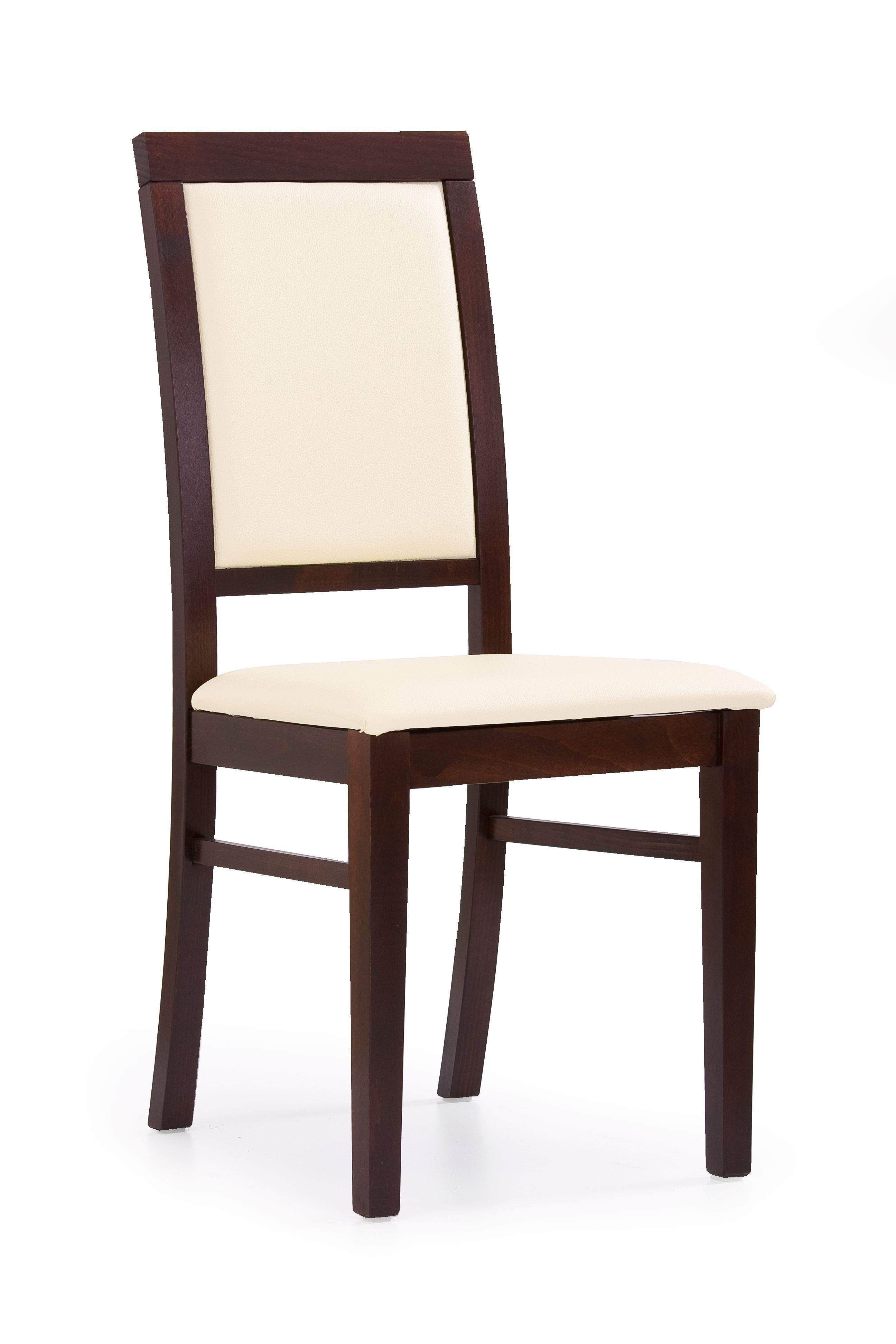 Kėdė SYLWEK 1 riešutas/oda