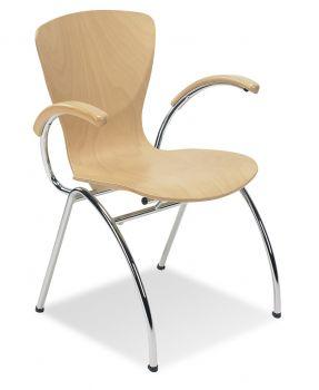 Kėdė BINGO arm wood chrome