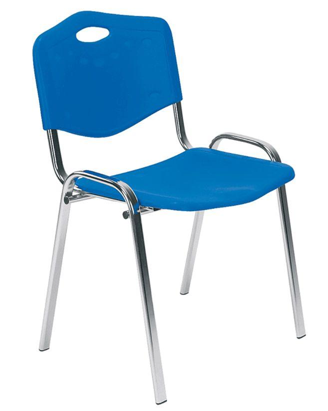 Kėdė ISO plastic chrome