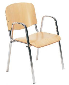 Kėdė ISO W wood chrome