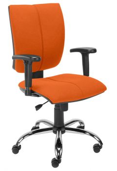 Biuro kėdė CINQUE R2C steel 02 chrome with an Active-1 mechanism