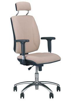 Biuro kėdė QUATRO HR R2C steel 04 chrome with an Active-1 mechanism