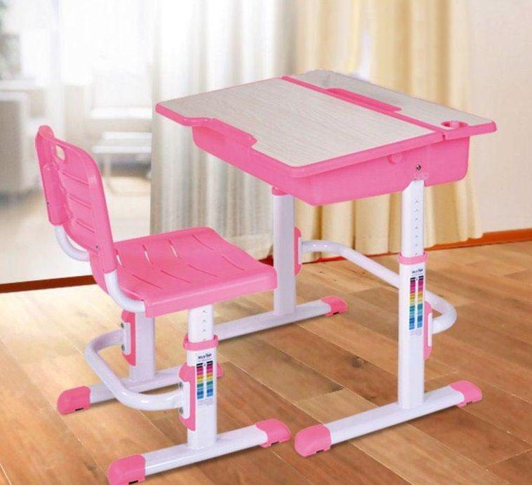 Augantis stalas ASTRO 2 rožinis