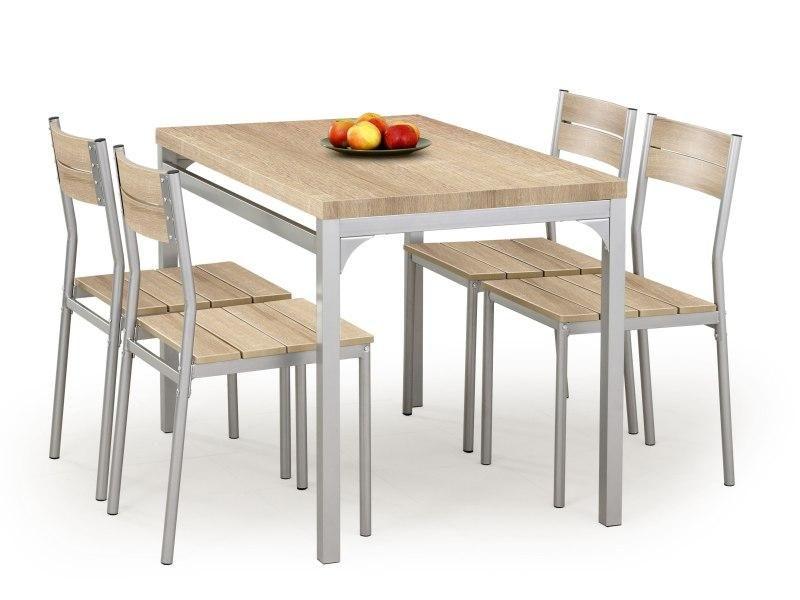 Stalas su kėdėmis MALCOLM sonoma