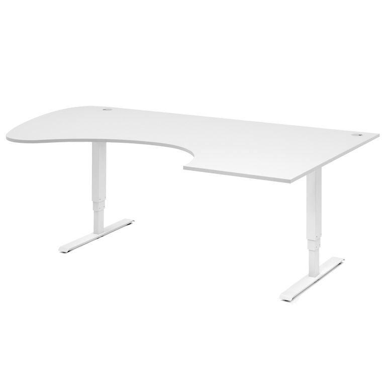 Reguliuojamo aukščio stalas Adeptus Baltas/Dešinė