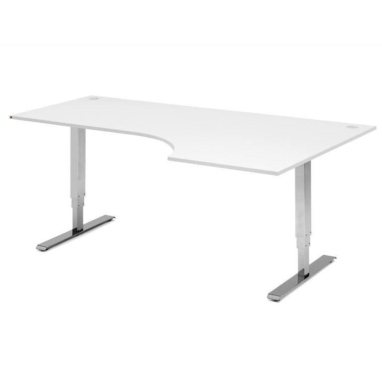 Reguliuojamo aukščio kampuotas stalas Adeptus Chromuotas/Dešinė/1800