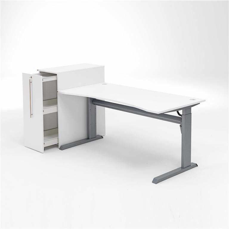 Biuro baldų komplektas: stalas ir stalčių spintelė
