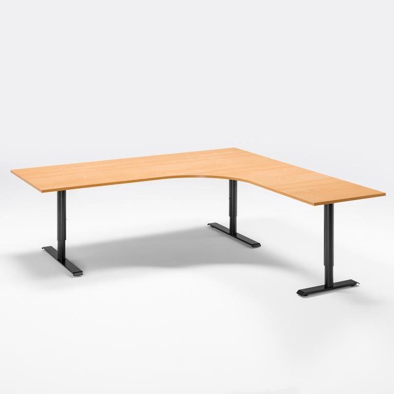Elektra reguliuojmo aukščio stalas Adeptus II 1800/Juoda/Dešinė